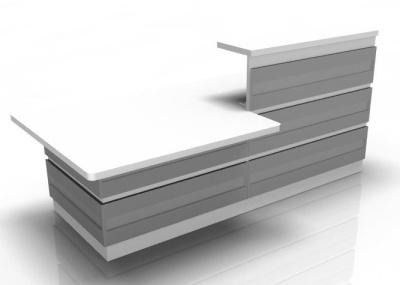 Visage Reception Desk 2 With Silver Cladding