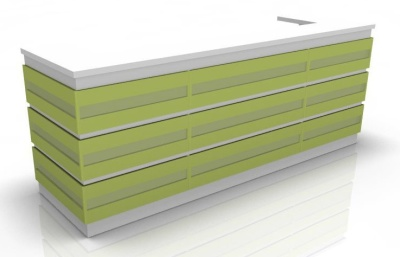 Visage Reception Desk 1 Lime Green