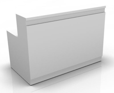 Visage Reception Desk White Fronts