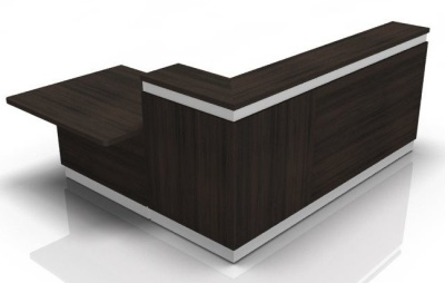 Visafe Reception Desk 5 Inj Dark Oak