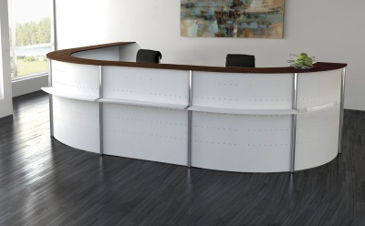 Genua Horseshoe Reception Desk V9