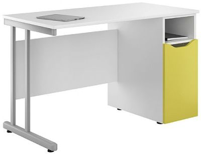 Uclic Kaleidoscopen Desk With A Yellow Door