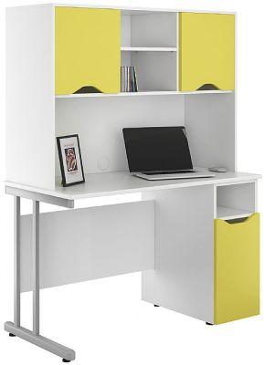 UCLIC Deak With Cupboard Doors In Peach Yellow