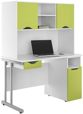 Uclic Desk With Darwer And Cupboard In Lime