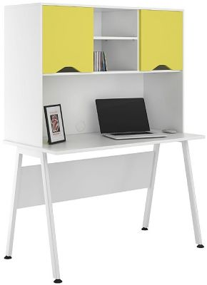 UCLIC Asppire Desk With Peach Yellow Doors