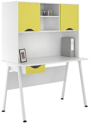 UCLIC Aspire Desk With Yelow Drawer And Doors