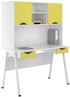UCLIC Aspire Desks With Fronts And Doors In Yellow