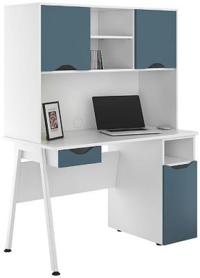 UCLIC Aspire Desk With Blue Door And Drawer Front