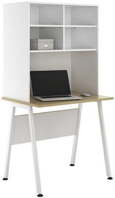 Aspire Syvan Desk With Open Storage Hutch 2