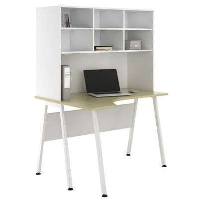 ASpire Sylvan Corner Desk With Storage Hutch