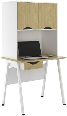 Aspire Sylvan 800mm Desk With Cupboards And Single Drawer