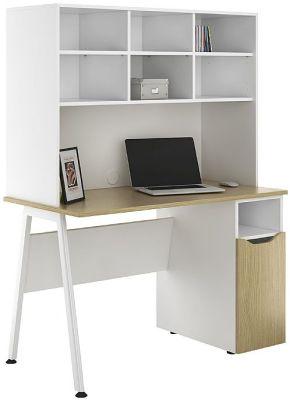 Aspire Sylvan Cupboard Desk With Overhead Storage 2