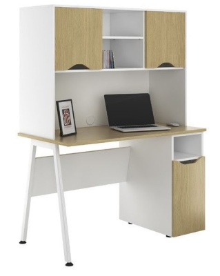 Aspire Sylvan Desk With Ddesk And Overhead Cupboars