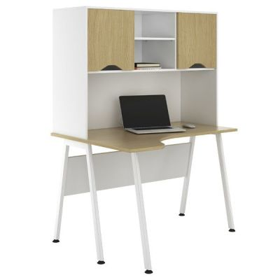 Aspire Sylvan Corner Desk With Overhead Cupboards
