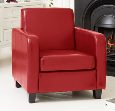 Forte Faux Leather Armchair