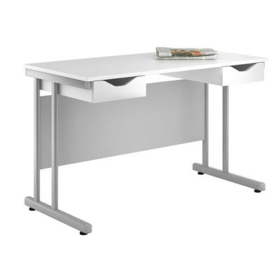 UCLIC Create Refelctions Desk With High Gloss White Drawer Fronts