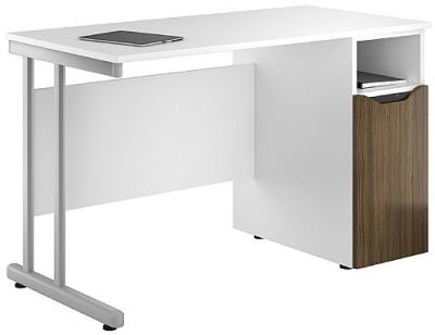 UCLIC Pedestal Desk With Dark Olive Pedestal Door