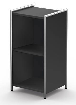 Artloline Low Narrow Bookcase Anthracite