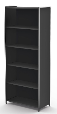 Artline High Bookcase In Anthracite