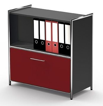 Artline Unit With Red Drawer And Anthracite Carcass
