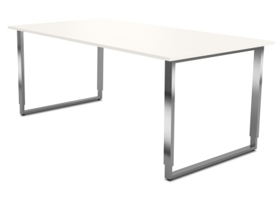 Aveto Desk With A Height Adjustable U Fanme And White Top