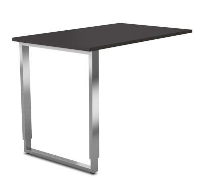 Aveto Desk Ereturn With A U Frame And Anthracite Top