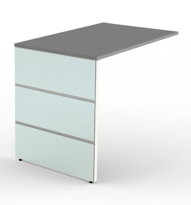Legano Executive Desk Return With A Graphite Top