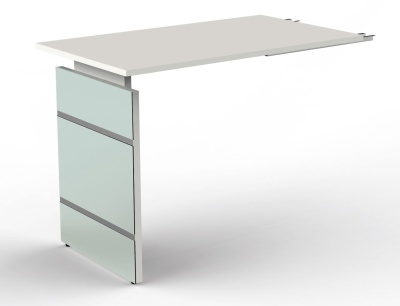 Legano Height Adjustable Desk Return With A White To[p