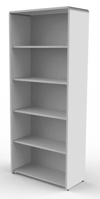 Modem Wide Bookcase In Grey