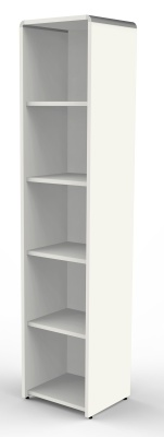 Modem Tall Silm Bookcase In White
