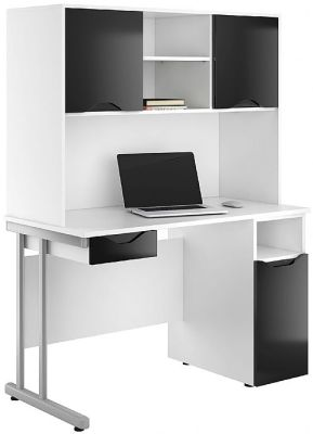 UCLIC Create Desks With High Gloss Black Doors And Drawer Front