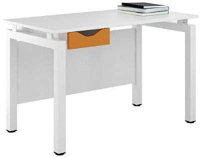 UCLIC Engage Desk With An Orange Drawer Front