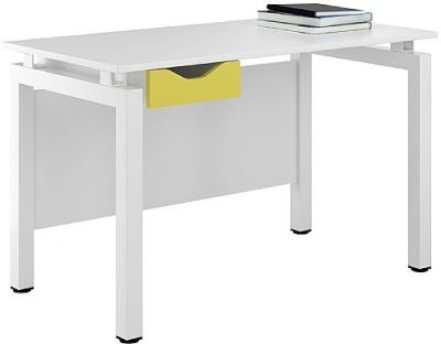 UCLIC Engage Desk With A Peach Yellow Drawer Front