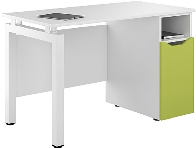 UCLIC Engage Pedestal DEsk With Lime Green Door