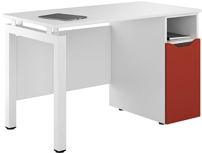 UCLIC Engage Pedestal Desk With Red Door
