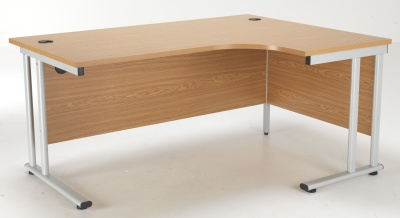 Flite Right Hand Corner Desk In Oak