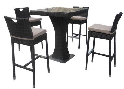 Madras Bar Height Rattan Set