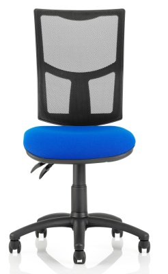 Twilight Mesh Chair Blue Seat Front Face