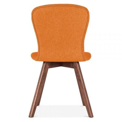 Detroit Dining Chair Orange Fabric Rear Shot