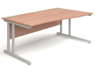 Trapido Right Hand Wave Desks In Beech