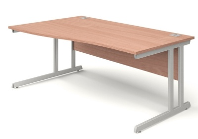 Trapido Left Hand Wave Desks In Beech