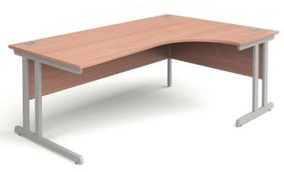 Trapido Right Hand Corner Desk In Beech