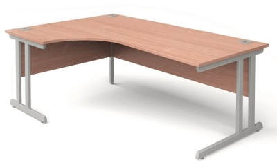 Trapido Left Hand Corner Desk In Beech