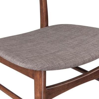 Detroit Dining Chair Gtrey Fabric Deail Shot