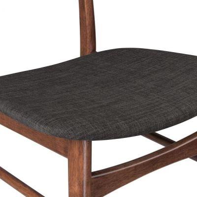 Detroit Dining Chair Dark Grey Fabric Detail