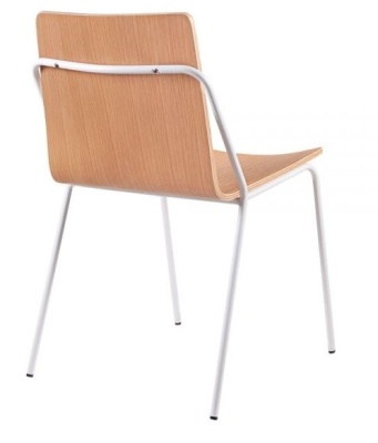 Denver Chair Natural Shell And White Frame Mrear Angle Shot