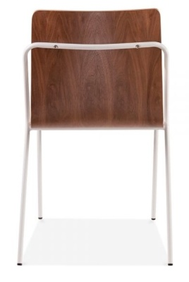 Denver Dining Chair With A Walnut Shell And White Shell Rear Shot