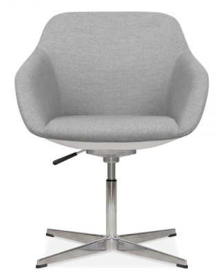 Mexico Lounge Chair Grey Fabric Front View