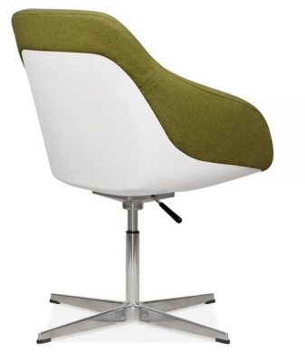 Mexico Lounge Chair Olive Fabric Rear Angle View