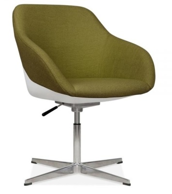 Mexdico Lounge Chair Olive Green Fabric Front Anmgle